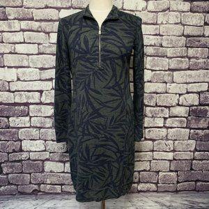 Tommy Bahama Gray Tropical Print Dress Size SP